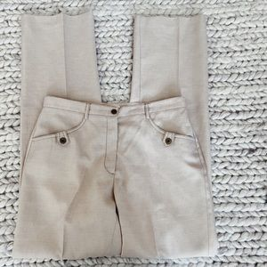 EMOTIONS Size 7 Loose Light Beige High Rise  Straight Business Casual Pants